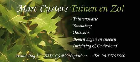 Marc Custers Tuinen en Zo!! - Sponsor Jeugdkamp